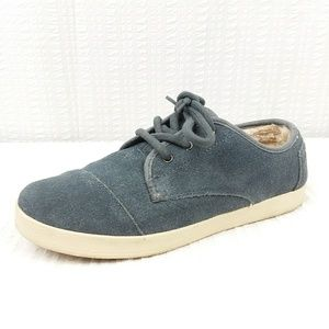 Toms | Blue Suede Lace Up Sneakers Size 8